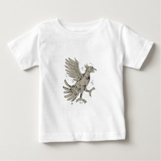 Cuauhtli Glifo Eagle Symbol Low Polygon Baby T-Shirt