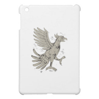Cuauhtli Glifo Eagle Symbol Low Polygon iPad Mini Cover