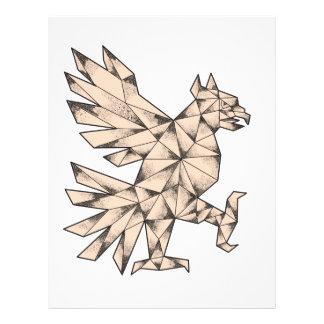 Cuauhtli Glifo Eagle Tattoo Letterhead