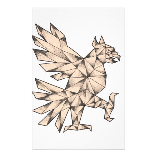 Cuauhtli Glifo Eagle Tattoo Stationery