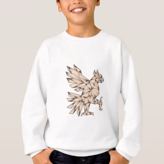 Cuauhtli Glifo Eagle Tattoo Sweatshirt