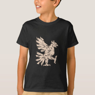 Cuauhtli Glifo Eagle Tattoo T-Shirt