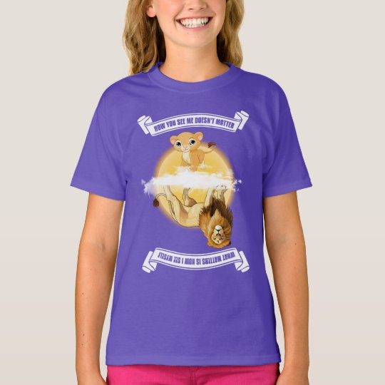 "Cub/Lion ""How You See Me"" Girl's Colour T-Shirt"