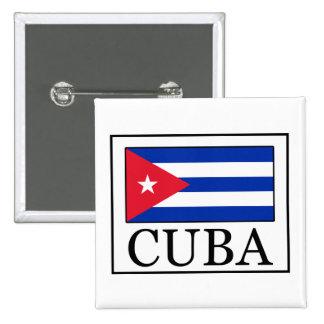 Cuba 2 Inch Square Button