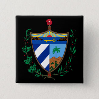 cuba coat of arms 2 inch square button