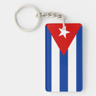 cuba country flag nation symbol keychain