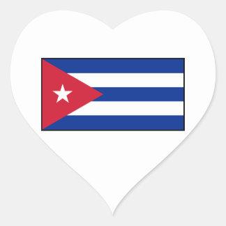 Cuba – Cuban Flag Heart Sticker