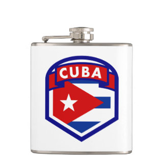 Cuba Flag Coat Of Arms Flask