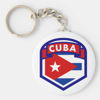 Cuba Flag Coat Of Arms Keychain
