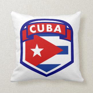 Cuba Flag Coat Of Arms Throw Pillow