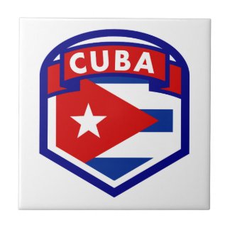 Cuba Flag Coat Of Arms Tile