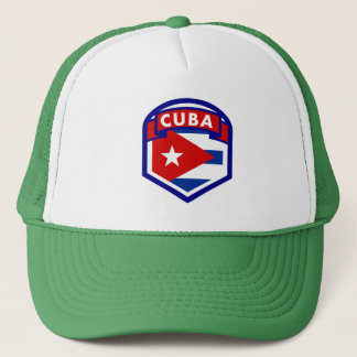 Cuba Flag Coat Of Arms Trucker Hat