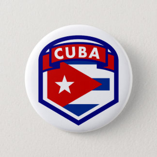 Cuba Flag Crest 2 Inch Round Button