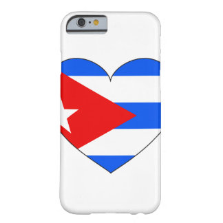 Cuba Flag Heart Barely There iPhone 6 Case