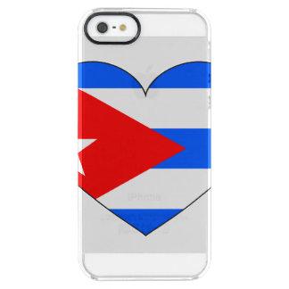 Cuba Flag Heart Clear iPhone SE/5/5s Case