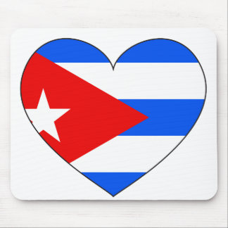 Cuba Flag Heart Mouse Pad