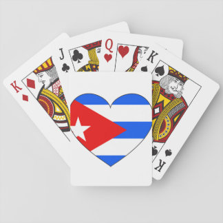 Cuba Flag Heart Playing Cards