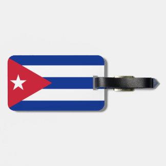 Cuba Flag Luggage Tag