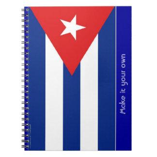 Cuba flag note books