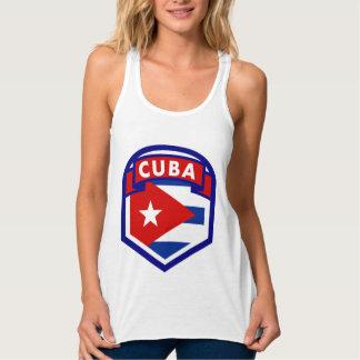 Cuba Flag Shield Tank Top