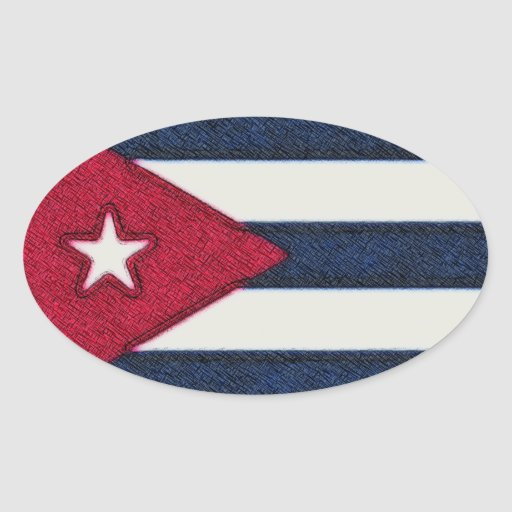 CUBA FLAG STICKERS