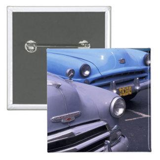 Cuba, Havana. Classic 1950's autos 2 Inch Square Button
