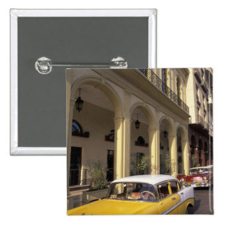 Cuba, Havana. Colorful Chevy's from the 1950's 2 Inch Square Button
