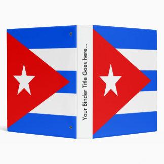 Cuba High quality Flag 3 Ring Binders