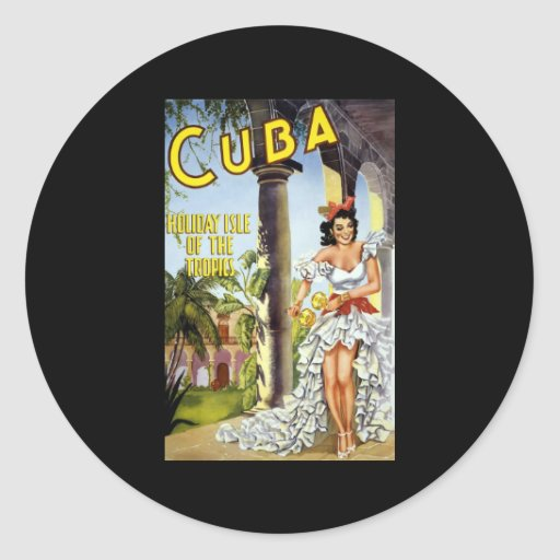Cuba Holiday Isle Of The Tropics Classic Round Sticker