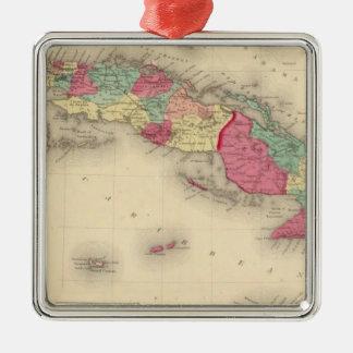 Cuba, Jamaica, and Porto Rico Metal Ornament