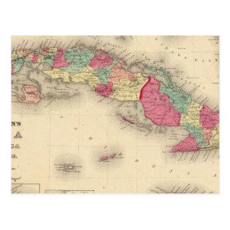 Cuba, Jamaica, and Porto Rico Postcard