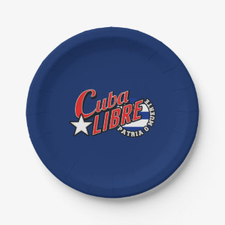 Cuba Libre Motto 7 Inch Paper Plate