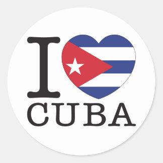 Cuba Love v2 Classic Round Sticker