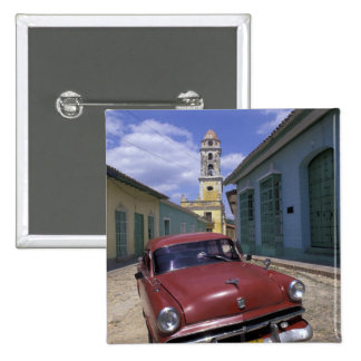 Cuba, old colonial village of Trinidad. 2 Inch Square Button