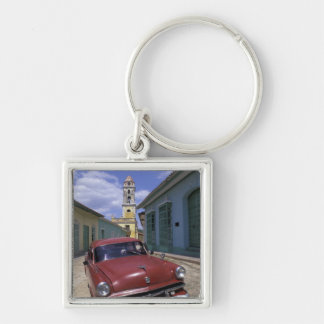Cuba, old colonial village of Trinidad. Silver-Colored Square Keychain