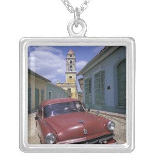 Cuba, old colonial village of Trinidad. Square Pendant Necklace