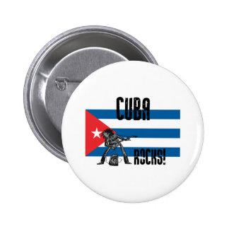 Cuba Rocks 2 Inch Round Button