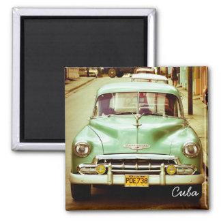 Cuba Square Magnet