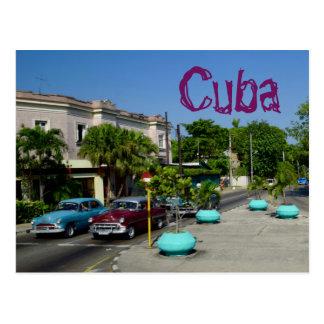 Cuba Travel Vintage American Cars Postcard