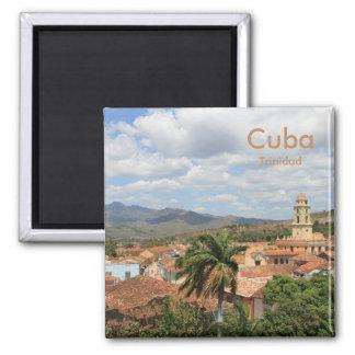 Cuba Trinidad Square Magnet