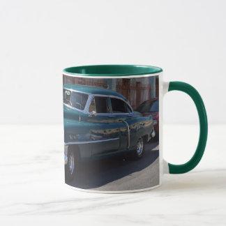 Cuba Vintage American Automobile Green Mug