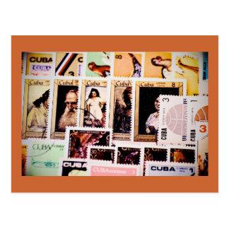 Cuba, vintage postage stamps, Postcards