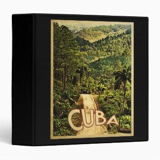 Cuba Vintage Travel 3 Ring Binder