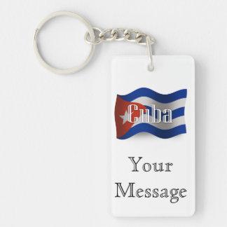 Cuba Waving Flag Keychain