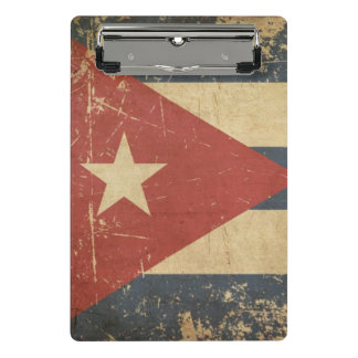 Cuban Aged Flat Flag Mini Clipboard