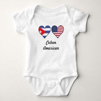Cuban American Flag Hearts Baby Bodysuit