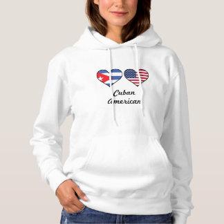 Cuban American Flag Hearts Hoodie