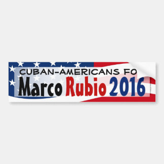 Cuban-American for Marco Rubio 2016 Bumper Sticker