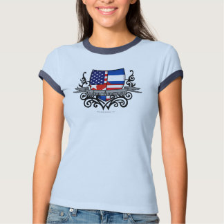 Cuban-American Shield Flag T-Shirt