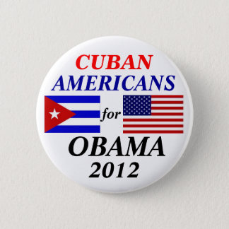 Cuban americans for Obama 2 Inch Round Button